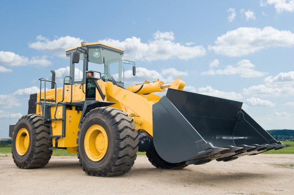 a wheel loader