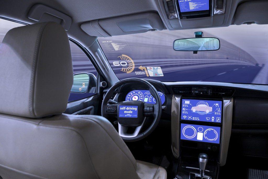 Inside of a car