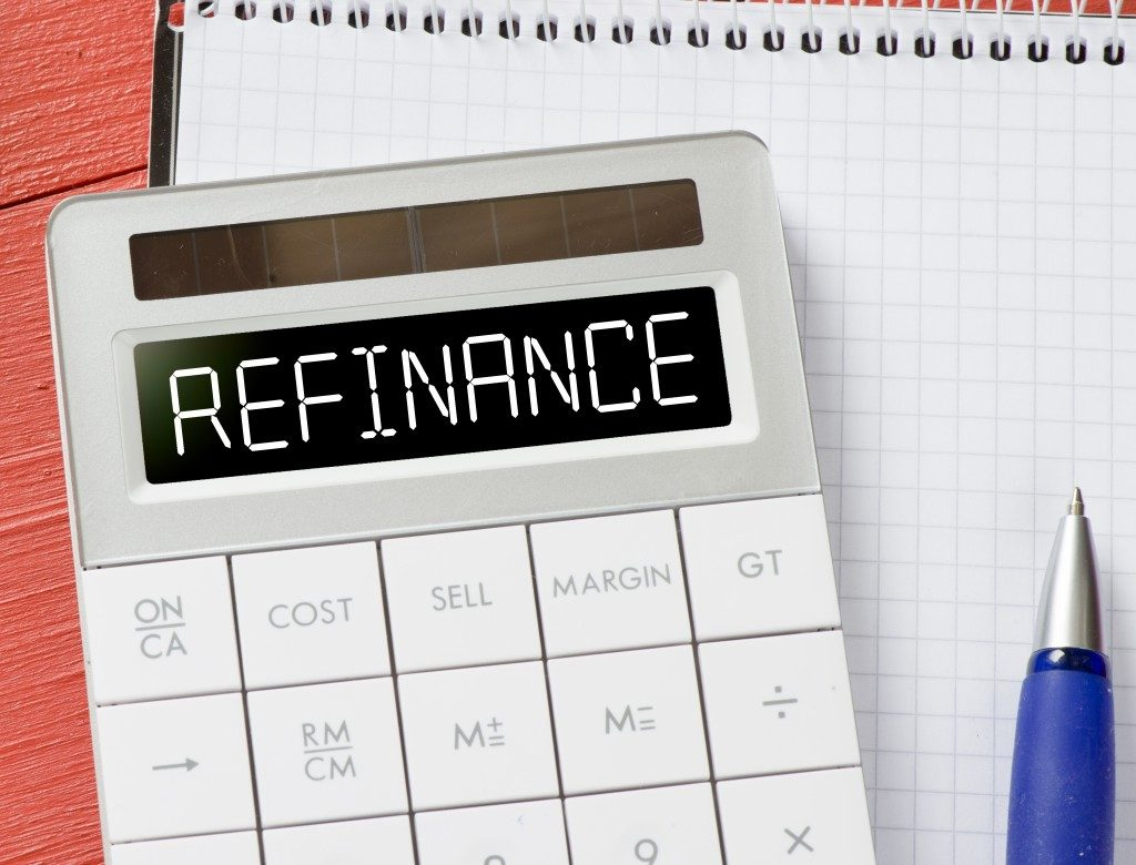 Calculator with refinance word