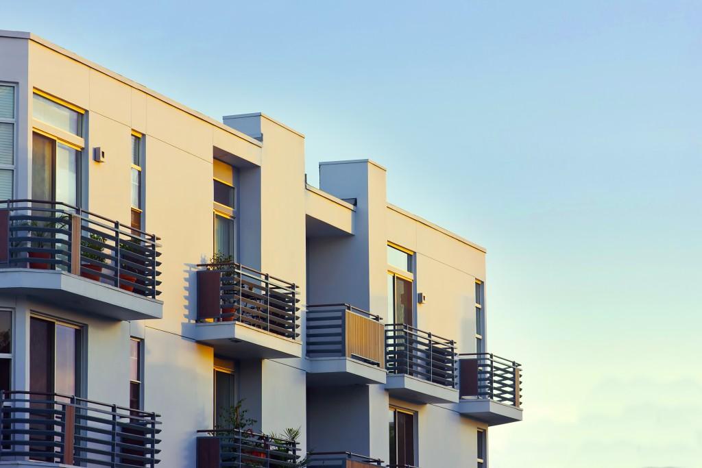 Modern apartment balcony