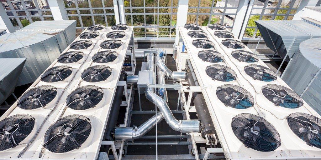 Commercial HVAC condenser fan units