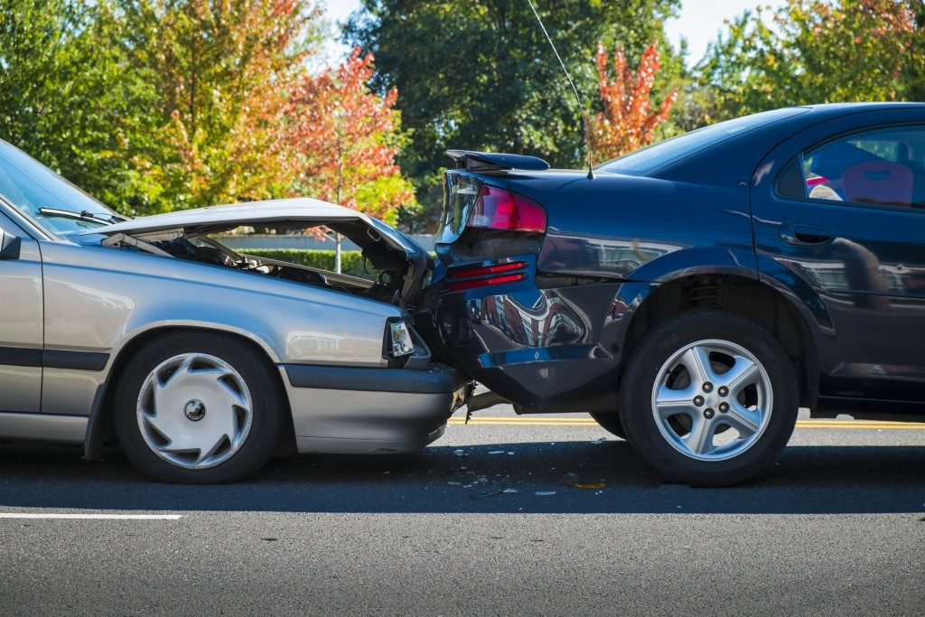 two cars collided