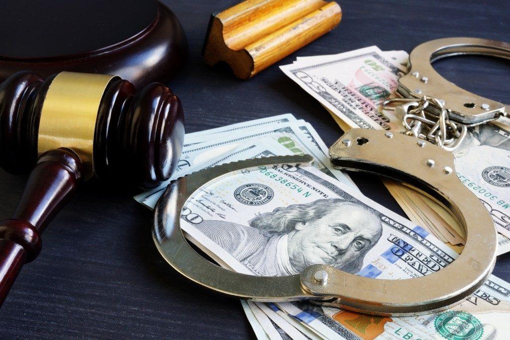 jail bonds legal system concept