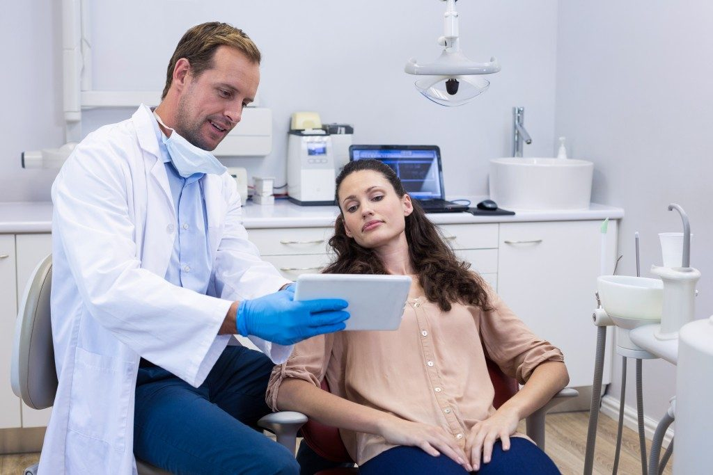 woman in a dental clinic