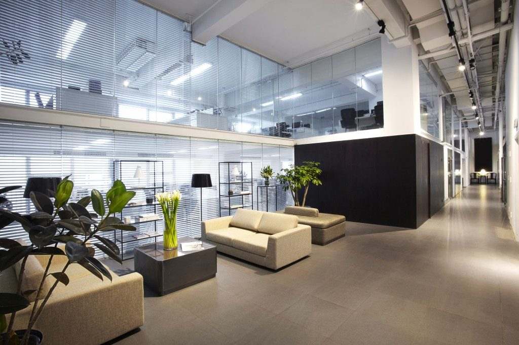 Modern Office with plants