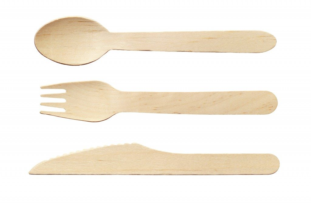 wooden set of utensils