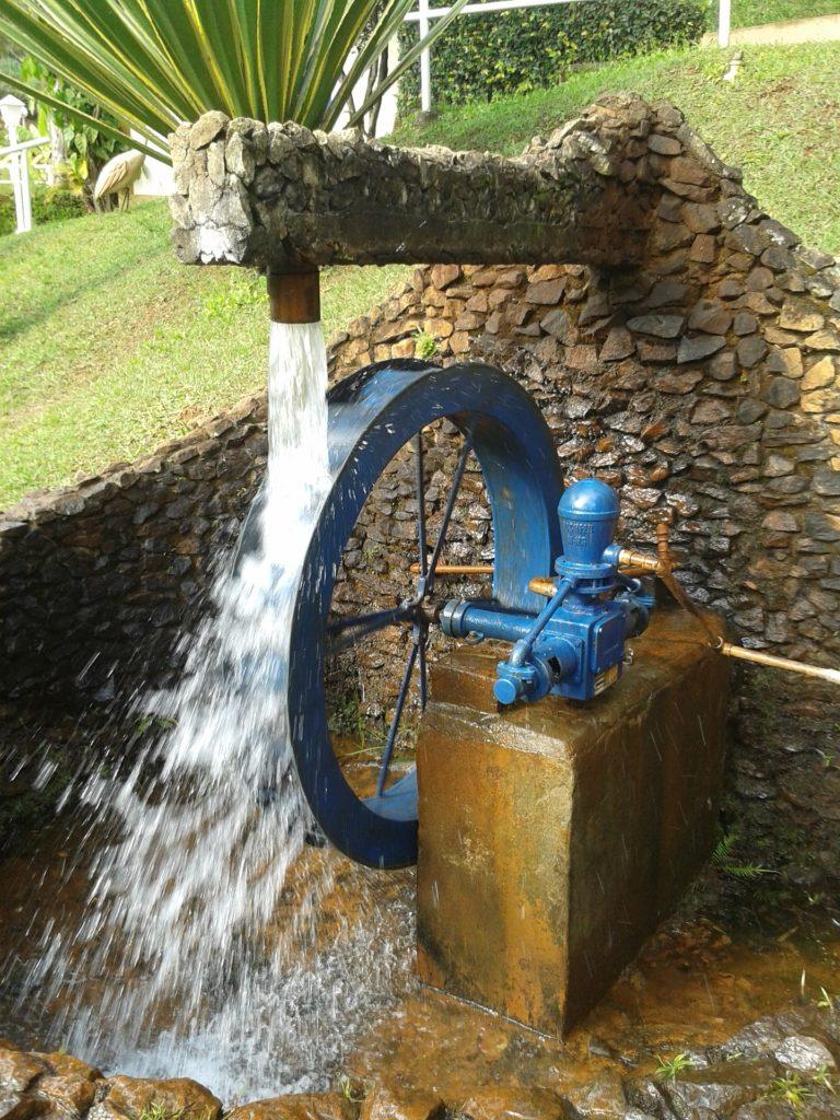 Using water pressure to create power