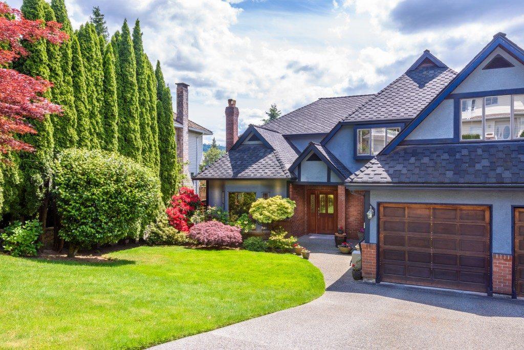 House frontyard lawn