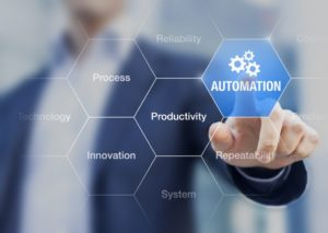 Presentation about automation as an innovation improving productivity, reliability and repeatability in systems or processes