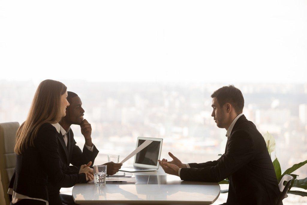 human resource team doing an interview