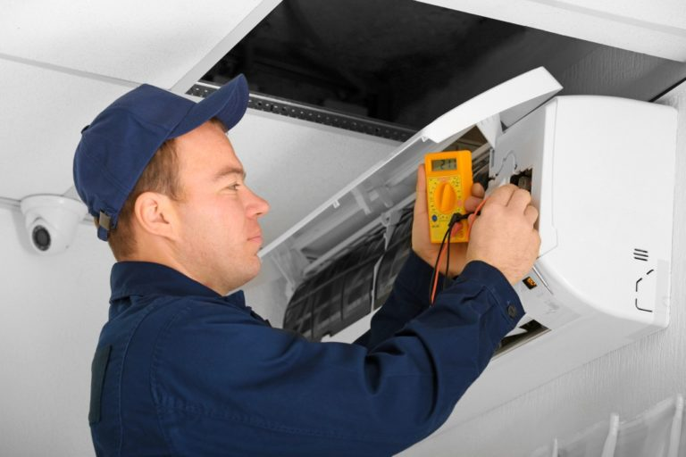 fixing HVAC unit